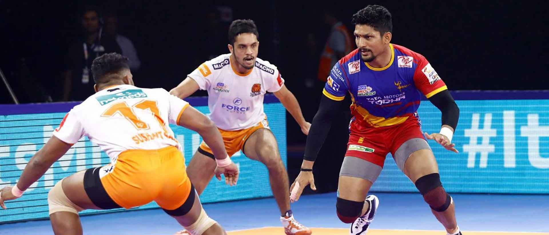 U.P. Yoddha emerge on top against Puneri Paltans in a close finish